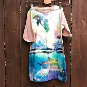 Stella McCartney kids dolphin dress. Size 8yrs